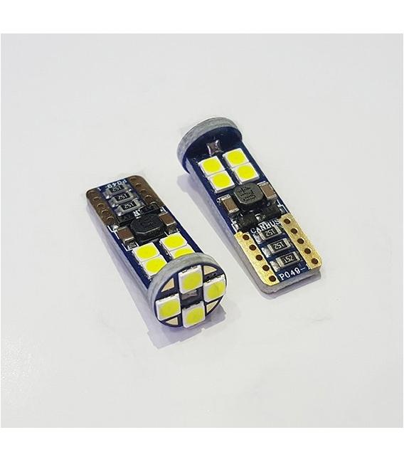 T10 3030 Chip 12smd 650Lumen Mercekli Beyaz Led Ampul