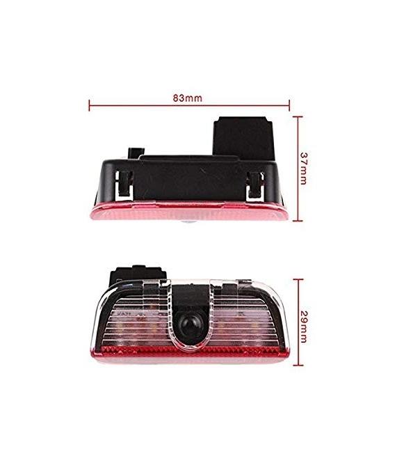 VW Passat Golf 7 Araçlar İçin Orjinal Geçmeli Soketli Kapı Altı Led Logo