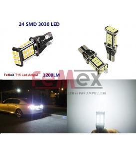 FEMEX T15 3030 Chip 24smd 1200 Lumen Beyaz Led Ampul 6000K