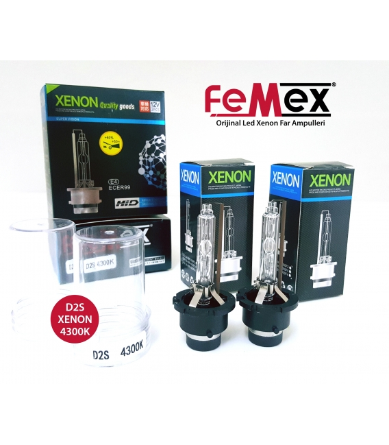 FEMEX XenStart HID D2S XENON OTO AMPUL 4300K SET (2 ADET) 4400Lumen