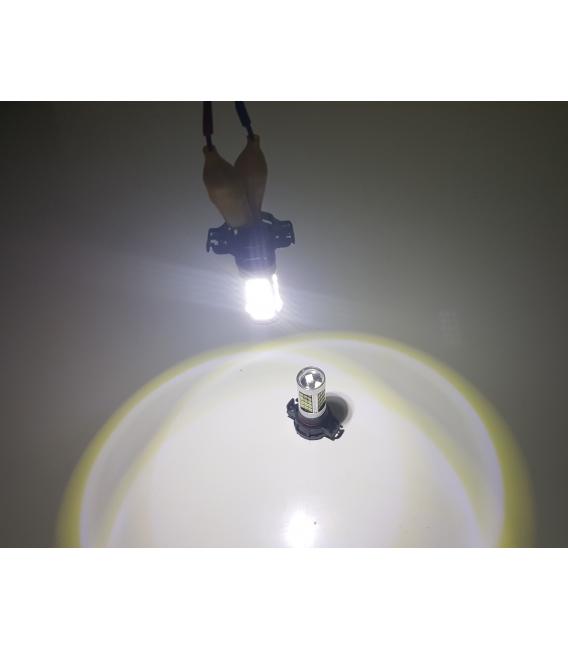 Sis Led Ampul H16 2835 Chip 9W Led Ampul Beyaz 66smd Ultra Parlak 6000K Mercekli