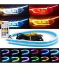 RGB Far Kaşı Gündüz Ledi Audi Stil Kayar Sinyalli Flexible Neon Led 60cm
