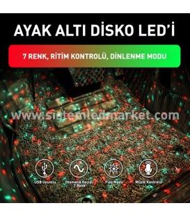 Disko Top Araç İçi RGB Led Kumandalı Müzik Sesine Duyarlı