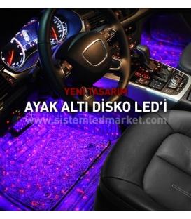 DİSKO TOP Araç İçi RGB Led Kumandalı Müzik Sesine Duyarlı