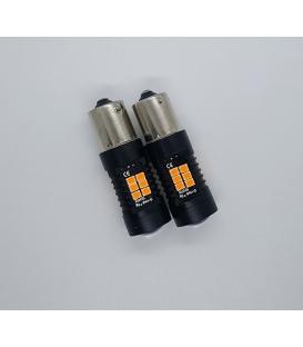FEMEX Platinum P21W 1156 15W BAU15S Tek Duy Dipli Led Ampul Turuncu Mercekli Ultra Parlak