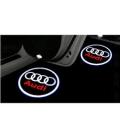 Audi Araçlar İçin Orjinal Geçmeli Soketli Kapı Altı Led Logo