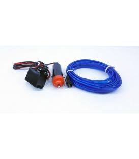 El Wire Neon Led Mavi 3 Metre  DC12V İnverter Dahil