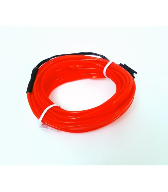 El Wire Neon Led Kırmızı 3 Metre  DC12V İnverter Dahil