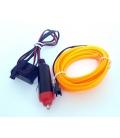 El Wire Neon Led Sarı 3 Metre  DC12V İnverter Dahil