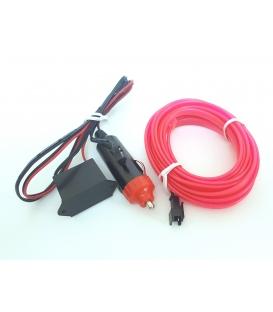 El Wire Neon Led Pembe 3 Metre  DC12V İnverter Dahil