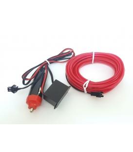 El Wire Neon Led Lila 3 Metre  DC12V İnverter Dahil