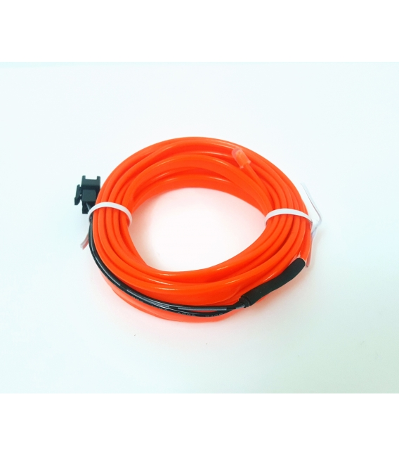 El Wire Neon Led Turuncu 3 Metre Kumandalı