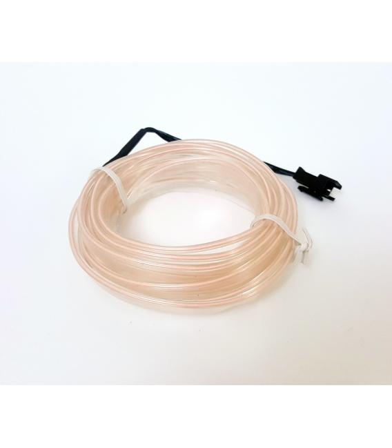 El Wire Neon Led Beyaz 3 Metre Kumandalı