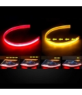 Far Kaşı Gündüz Ledi Audi Stil Kayar Sinyalli Flexible Neon Led Kırmızı-Sarı 60cm