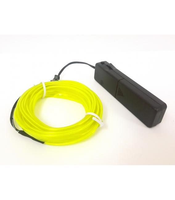 El Wire Neon Led Limon Yeşili 3 Metre Müziğe Duyarlı