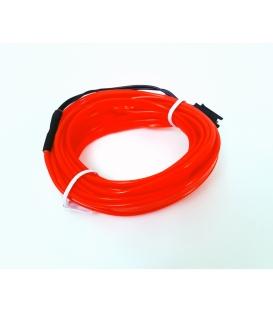 El Wire Neon Led Kırmızı 3 Metre Muzige Duyarli
