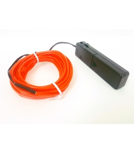 El Wire Neon Led Turuncu 3 Metre Muzige Duyarlı Kumandalı