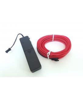 El Wire Neon Led Lila(Mor) 3 Metre Muziğe Duyarlı Kumandalı
