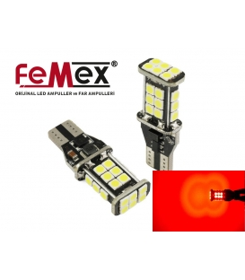 FEMEX T15 3030 Chip 24smd 1200 Lumen Kırmızı Led Ampul