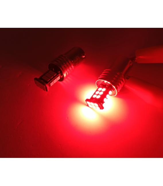 P21W 1156 Tek Duy Led Ampul Kırmızı 3030 Chip Parlak