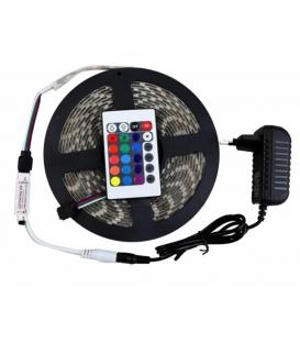 RGB LED Kumandalı İç / Dış Mekan 5 Metre Silikonlu Şerit Led 220V