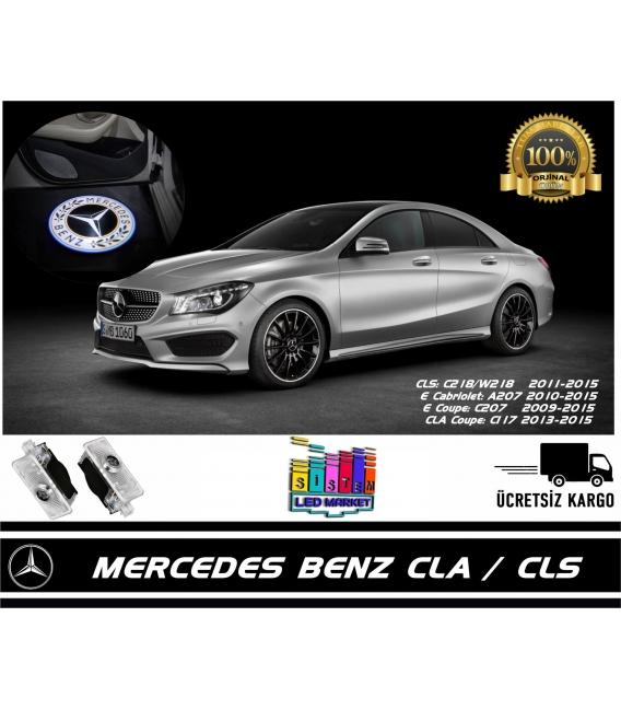 Mercedes CLA Araçlar İçin Orjinal Geçmeli Soketli Kapı Altı Led Logo