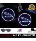 Jaguar Araçlar İçin Mesafe Sensörlü  Fotoselli Pilli Yapıştırmalı Kapı Altı Led Logo