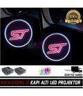Ford ST Mesafe Sensörlü  Fotoselli Pilli Yapıştırmalı Kapı Altı Led Logo