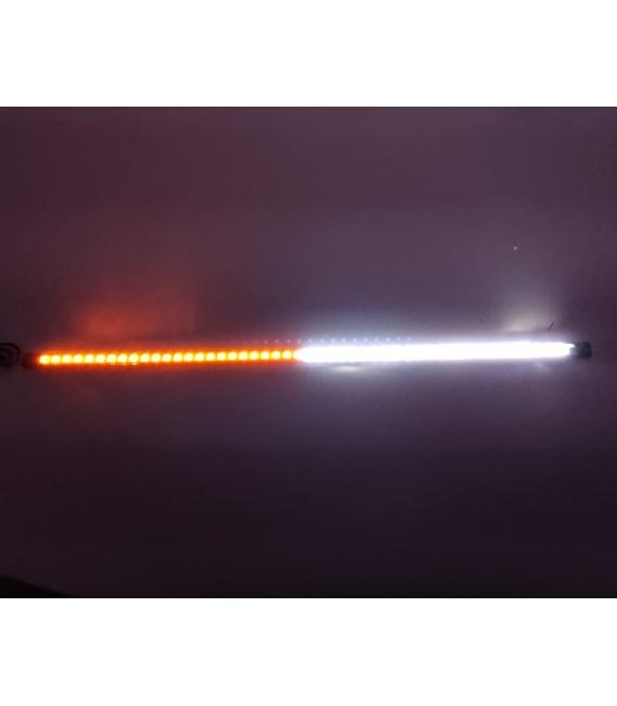 OFF ROAD Çakarlı Led Koyu TURUNCU Renk 24 Modlu Kumandalı 56cm