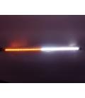 OFF ROAD Çakarlı Led Koyu TURUNCU-BEYAZ Çift Renk 24 Modlu Kumandalı 56cm