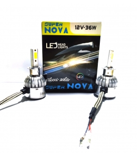 Super Nova BEYAZ H3 Şimşek Etkili Zenon COB Led Xenon Led Headlight