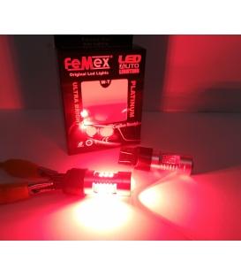 FEMEX Platinum T20 7440/7443 15W Tek Duy / Çift Duy Led Ampul Kırmızı Mercekli Ultra Parlak