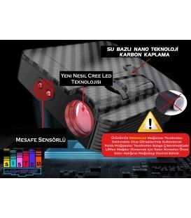 Audi Sline Mesafe Sensörlü  Fotoselli Pilli Yapıştırmalı Kapı Altı Led Logo