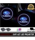 Subaru Mesafe Sensörlü  Fotoselli Pilli Yapıştırmalı Kapı Altı Led Logo