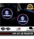 Suzuki Mesafe Sensörlü  Fotoselli Pilli Yapıştırmalı Kapı Altı Led Logo