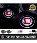 Fiat Araçlar İçin Mesafe Sensörlü  Fotoselli Pilli Yapıştırmalı Kapı Altı Led Logo