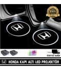 Honda Araçlar İçin Mesafe Sensörlü  Fotoselli Pilli Yapıştırmalı Kapı Altı Led Logo