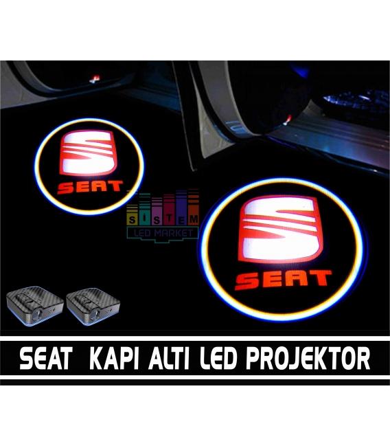 Seat Araçlar İçin Pilli Yapıştırmalı Kapı Altı Led Logo