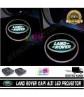 Land Rover Araçlar İçin Mesafe Sensörlü  Fotoselli Pilli Yapıştırmalı Kapı Altı Led Logo