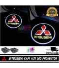 Mitsubishi Araçlar İçin Mesafe Sensörlü  Fotoselli Pilli Yapıştırmalı Kapı Altı Led Logo