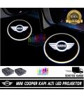 Mini Araçlar İçin Mesafe Sensörlü  Fotoselli Pilli Yapıştırmalı Kapı Altı Led Logo