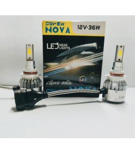 Super Nova BEYAZ HB3 9005 Şimşek Etkili Zenon COB Led Xenon Led Headlight