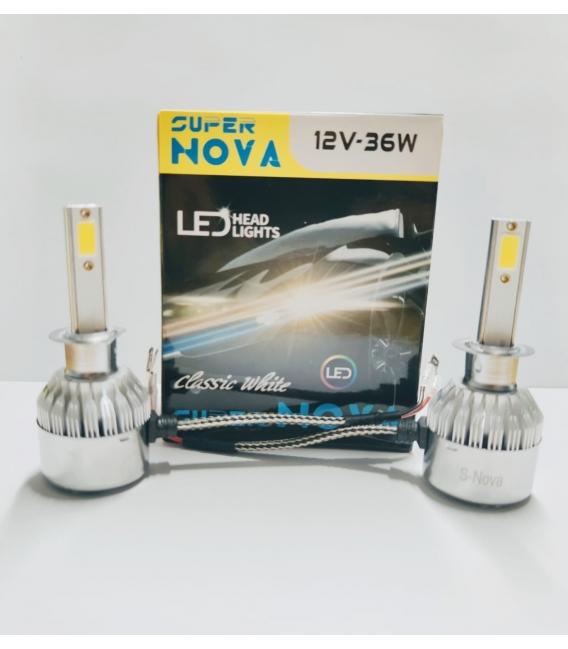 Super Nova TURKUAZ  H3 Şimşek Etkili Zenon COB Led Xenon Buz Mavi