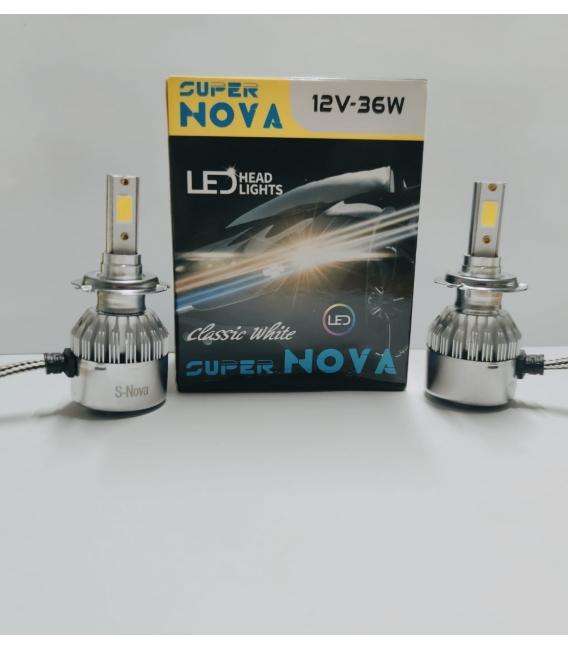Super Nova TURKUAZ  H7 Şimşek Etkili Zenon COB Led Xenon Buz Mavi
