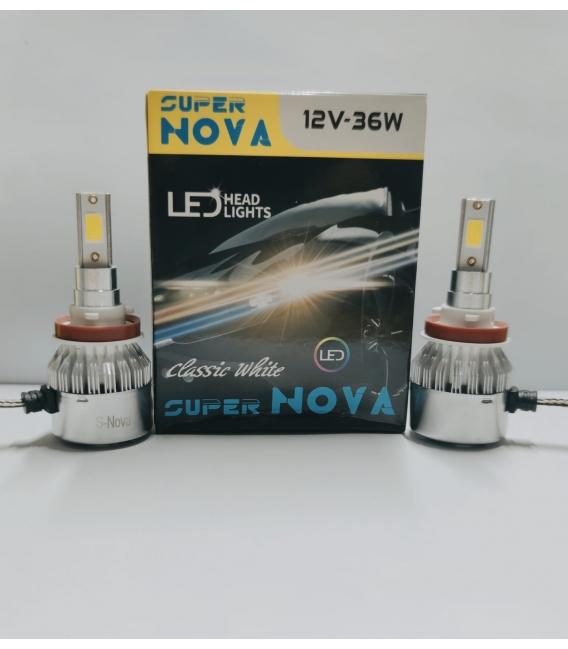 Super Nova TURKUAZ  H8/11 Şimşek Etkili Zenon COB Led Xenon Buz Mavi